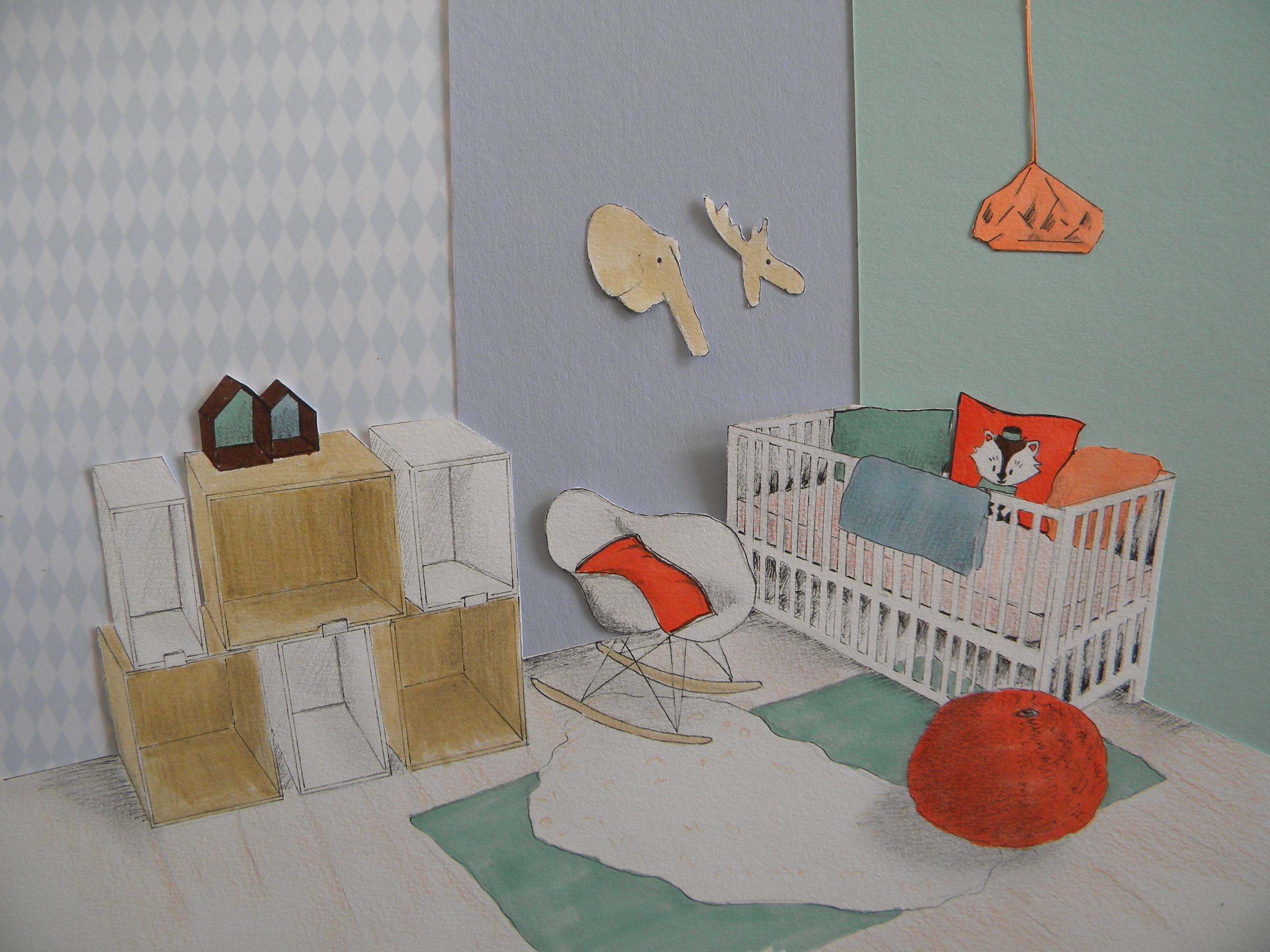 Décoration pl¨te d une chambre d enfant