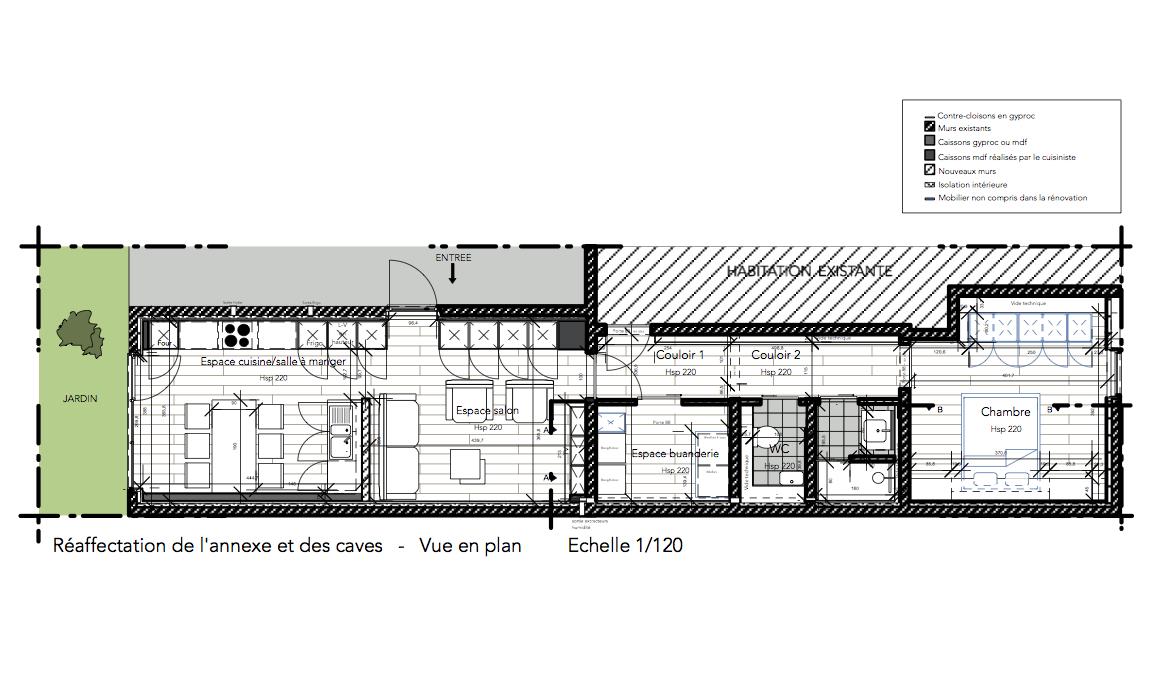 Vue en plan de maison meilleure inspiration pour votre for Plan maison d habitation